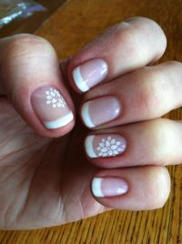 flower fingernail painting white | DownloadFrench Manicure ...