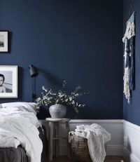 Deep blue bedroom wall @jasminabylund | BEDROOM ...