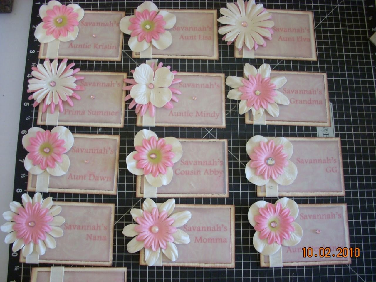 Pnm name tag ideas scrapbooking paper flowers are good materials to work with tags