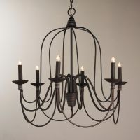 Bronze Swag Chandelier - 6 Light | Chandelier shades, Oil ...