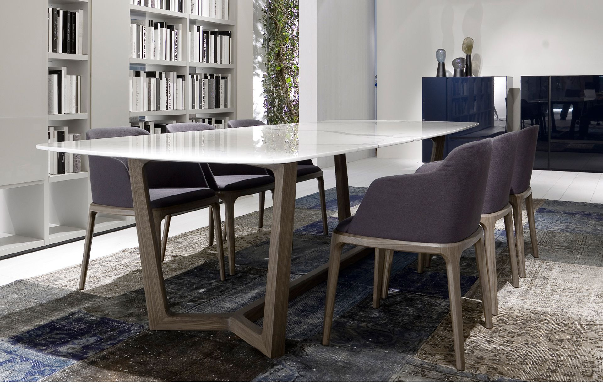 marble top kitchen table Poliform Concorde table Marble Top Dining