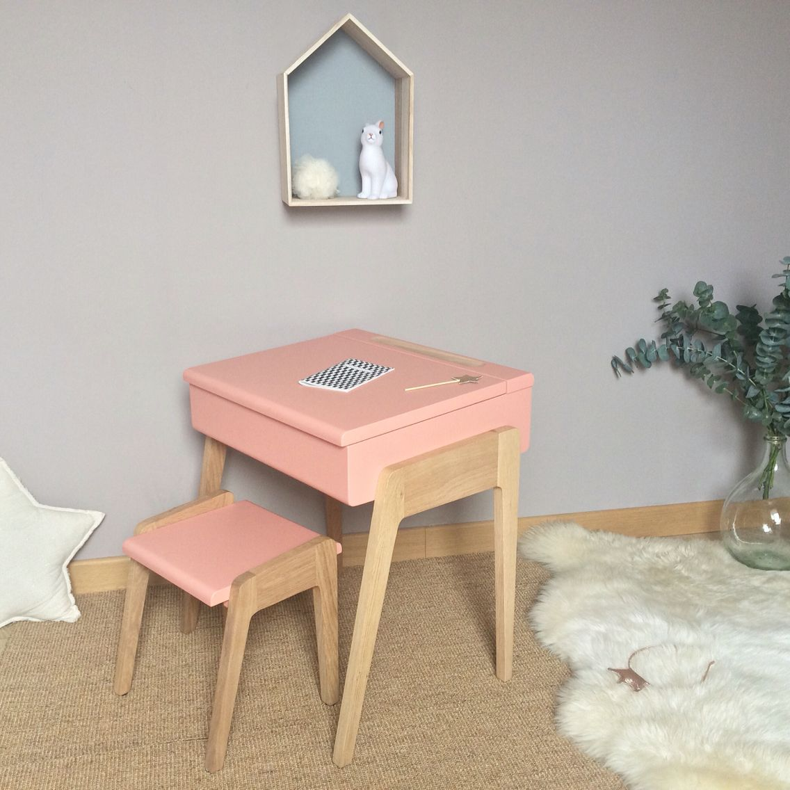 Bureau Enfant Fille Bureau Enfant Style Pupitre My Little Pupitre Rose