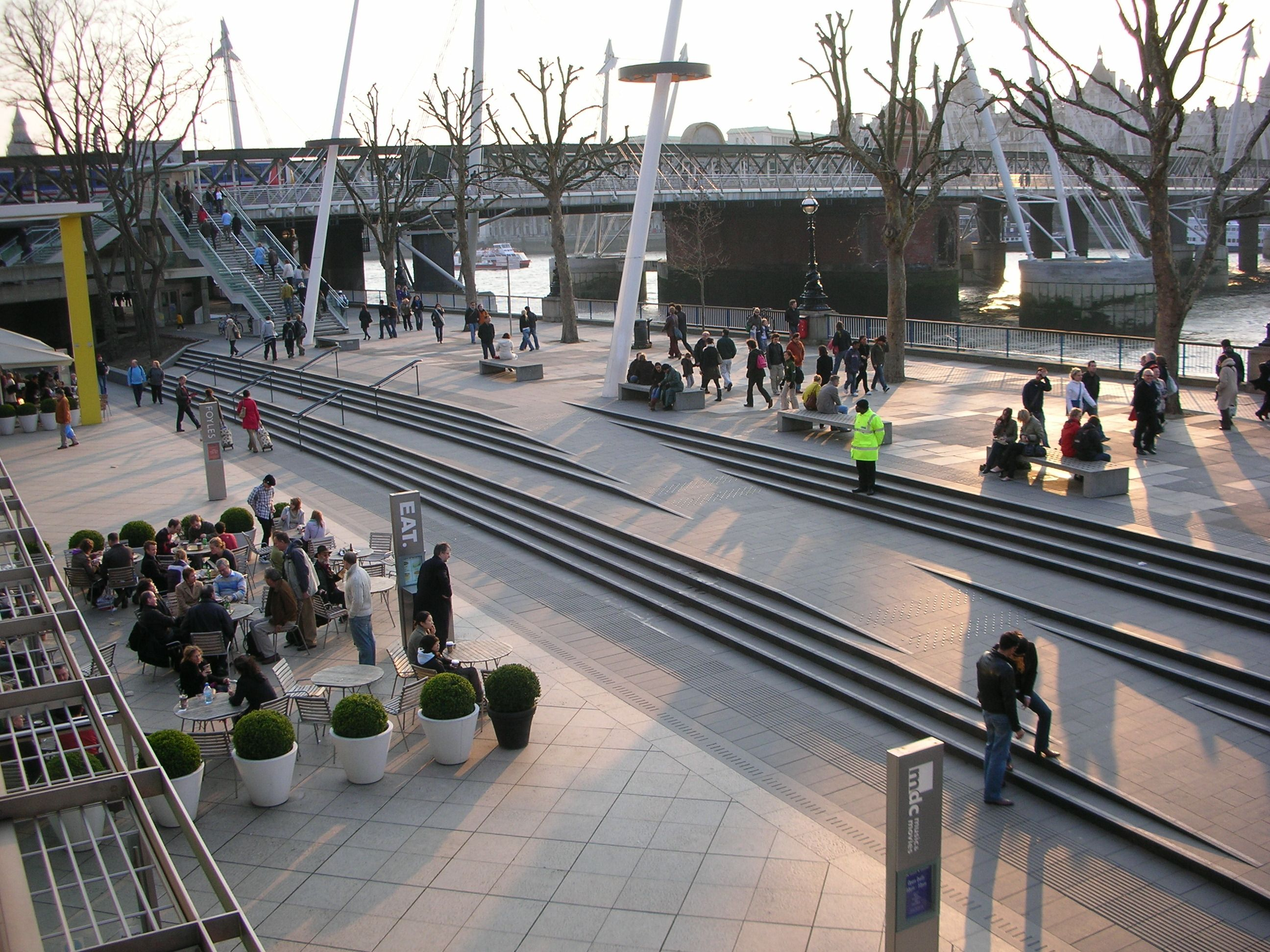 Southbank royal festival hall landscape steps and ramp