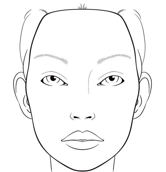 face chart template theater make up pinterest