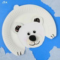 Polar Bear Paper Plate Craft | Bear crafts, Arctic animals ...