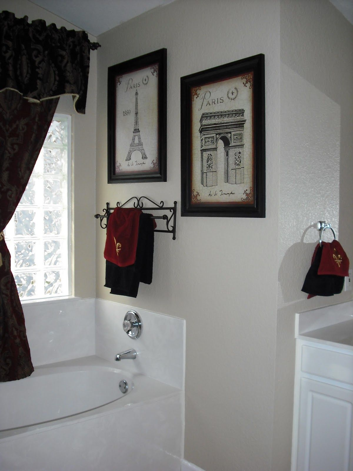 Themed Bathrooms Ideas Exactly What I Want For Master Bath Black And White Paris