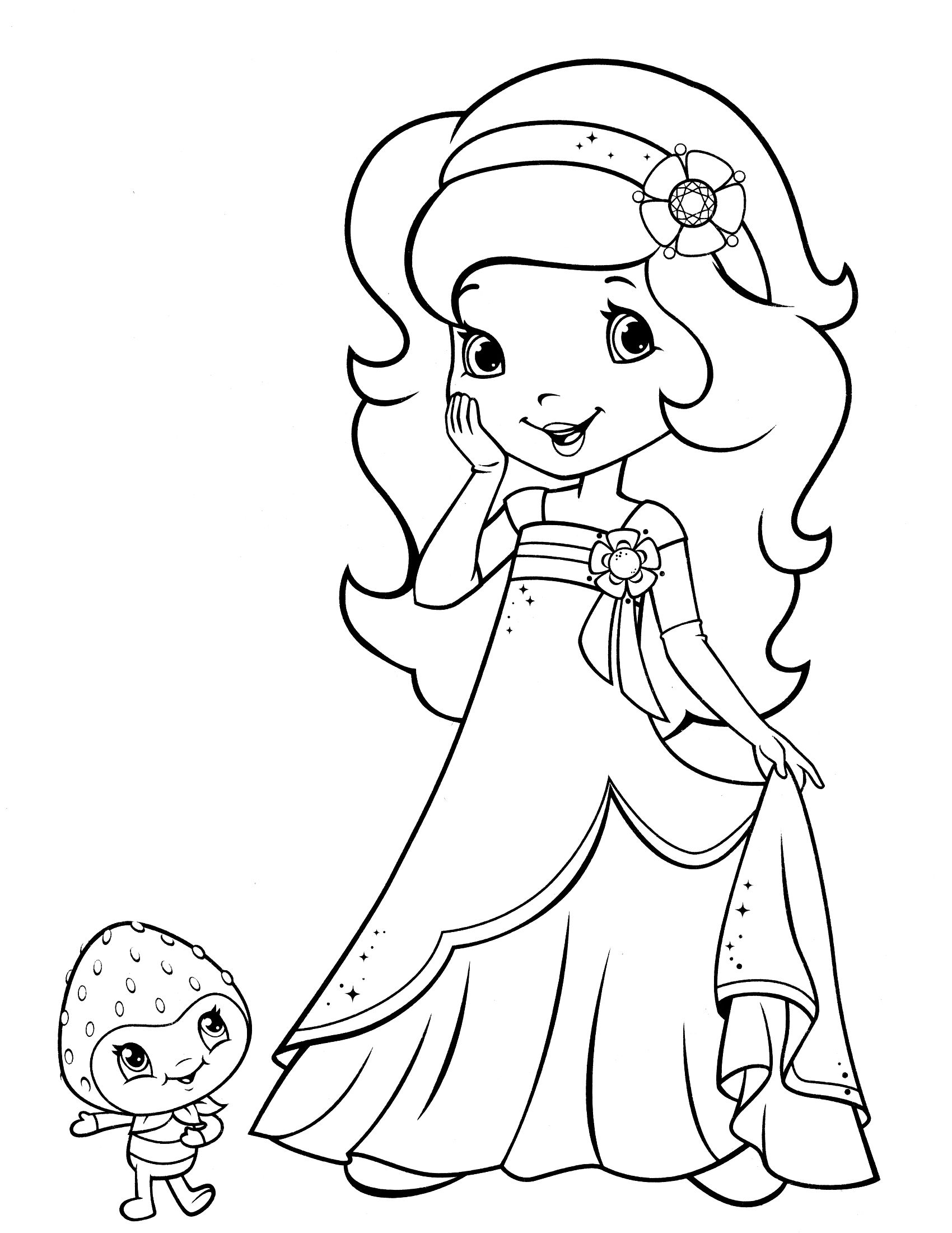 Printable coloring pages strawberry shortcake - Printable Coloring Pages Pdf