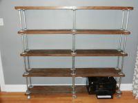 galvanized pipe bookcase - Google Search   Condo ...