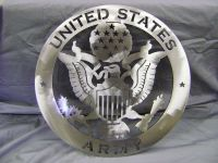 "Metal Sign, Steel Sign, ""United States Army"" Metal Signal"