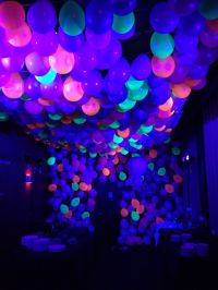 Neon Ballon Ceiling with black light   balloon images ...