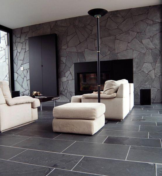 Black limestone floor tiles ideas for contemporary living