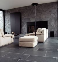 Black limestone floor tiles ideas for contemporary living