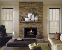 Fireplaces with windows on both sides look more open when ...