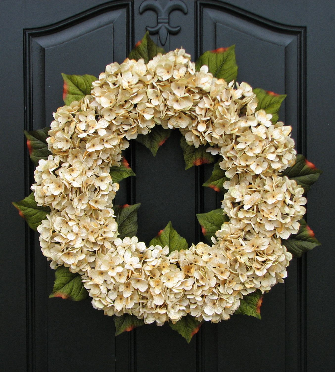 Modern wreaths for front door wedding decor wedding wreaths champagne front door