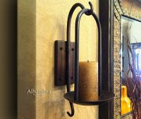 Tuscan Decor Tuscan Alhambra Iron Wall Sconce Candle ...