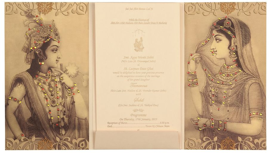 Anurag 3d Wallpaper Traditional Radha Krishna Wedding Cards Designer Wedding