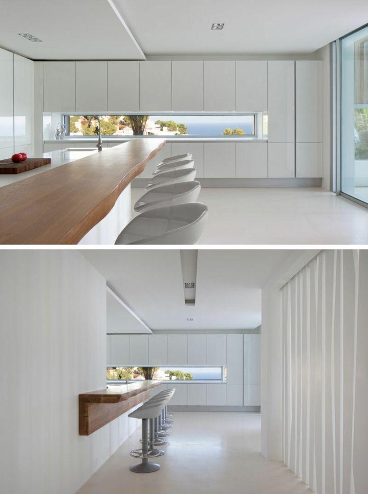Fenster Idee in einer weißen Küche einrichten Pinterest - schmale fenster kuechen gestaltung