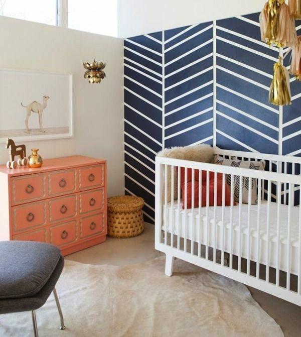 Babyzimmer Einrichten Deko Ideen Wandgestaltung Kommode   Babyzimmer  Einrichten