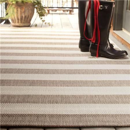 Neutral Striped Indoor Outdoor Rug Indoor Outdoor Rugs