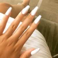 Coffin/Ballerina nail-perfection.   Nails Design ...