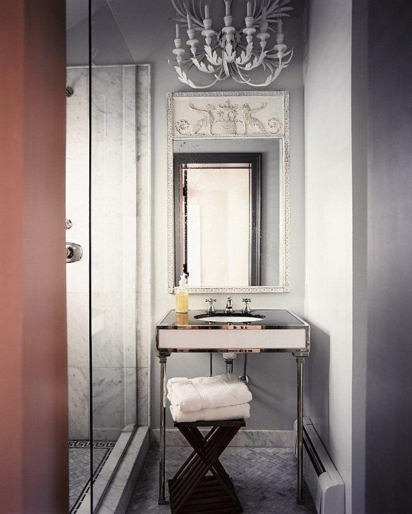 Luxus Bad Design Modern Vintage Deko Ideen Wandspiegel Waschtisch   Bad