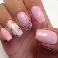 Flower gel nail art design   Nail Art   Pinterest   Gel ...