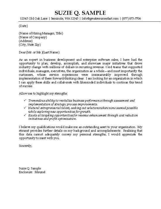 IT Sales Cover Letter Example Cover letter example, Letter - how to write a good cover letter for a resume