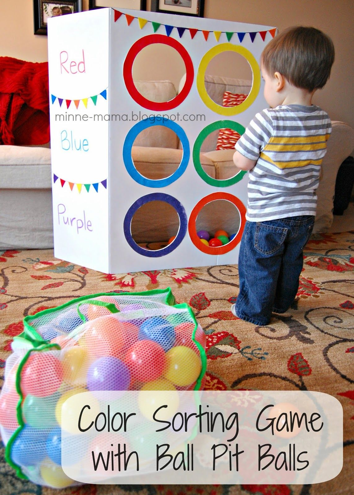 Color toss activity with video teaching toddlers colorspreschool colorslearning