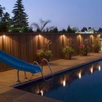 LED Solar Power Outdoor Garden Powered Light Gutter Fence ...