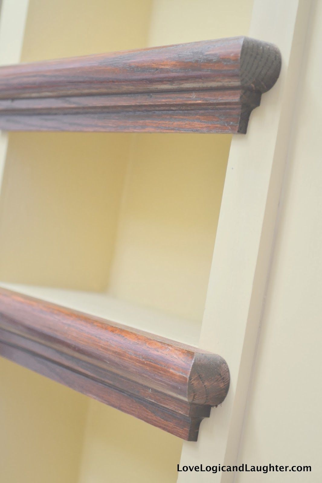 Stairs Shelving Using Stair Tread Nosing As Finishing Trim On Built In