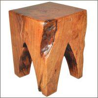 Appalachian Rustic Square Cut 4 Legged Tree Stump Stool ...