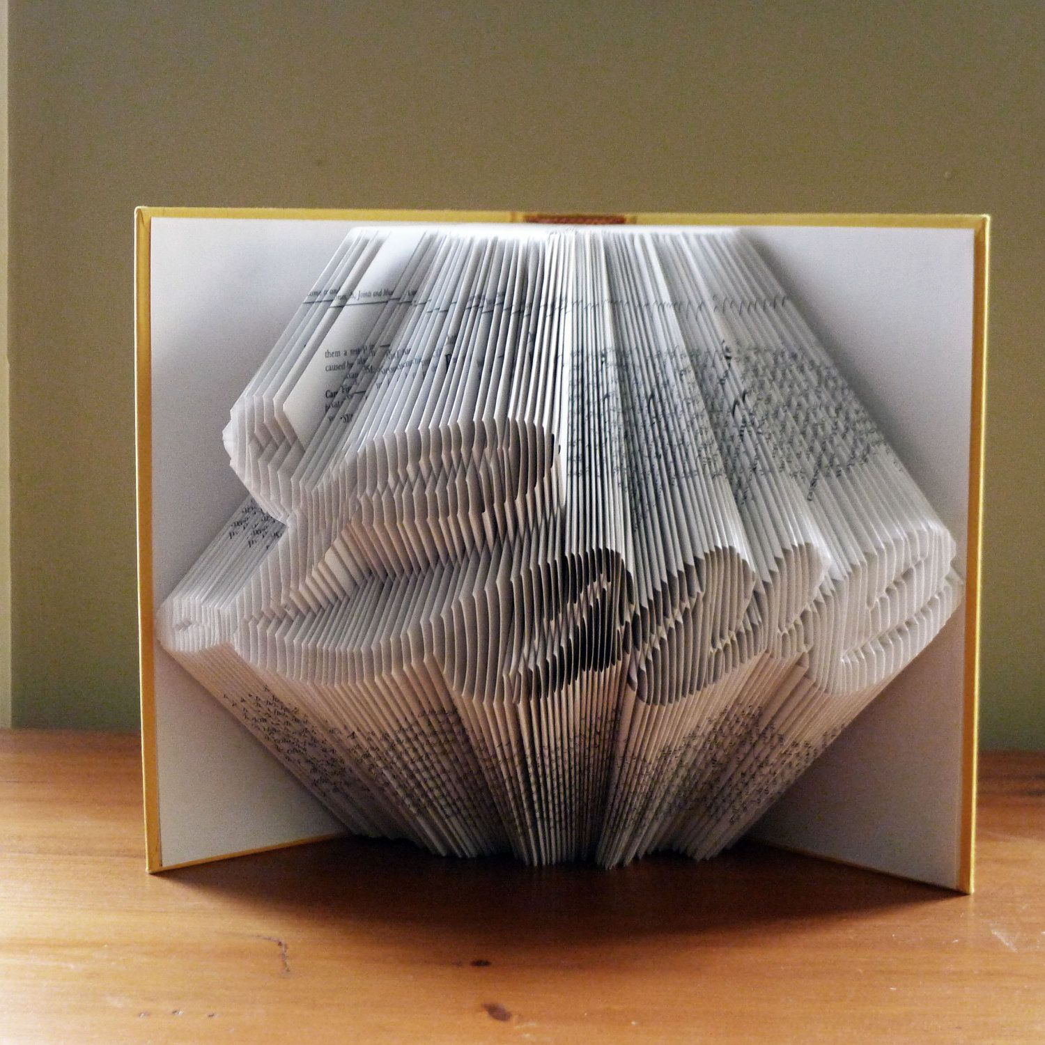 Art For Book Lovers Folded Book Art Love Anniversary Gifts Boyfriend