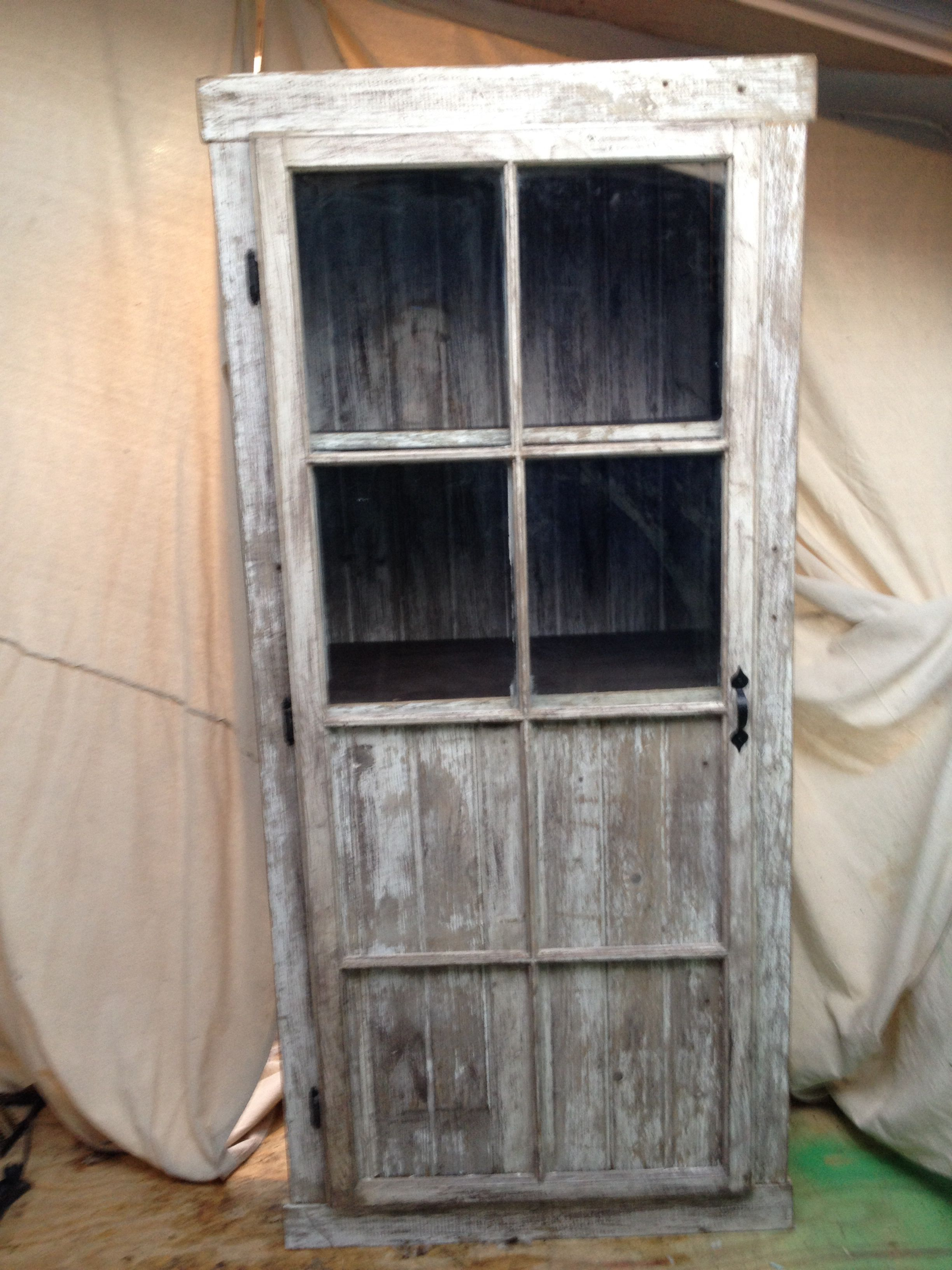Barn Board Kitchen Cabinets Barn Wood Cabinet With A Repurposed Window Frame Door