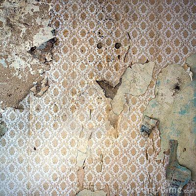 Peeling Wallpaper, Damaged Wal by View7, via Dreamstime | multi media | Pinterest | Wallpaper ...