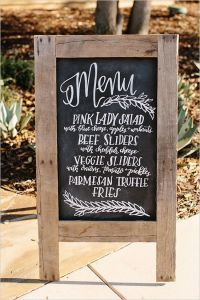 Romantic And Rustic Wedding | Chalkboards, Menu and Menu ...