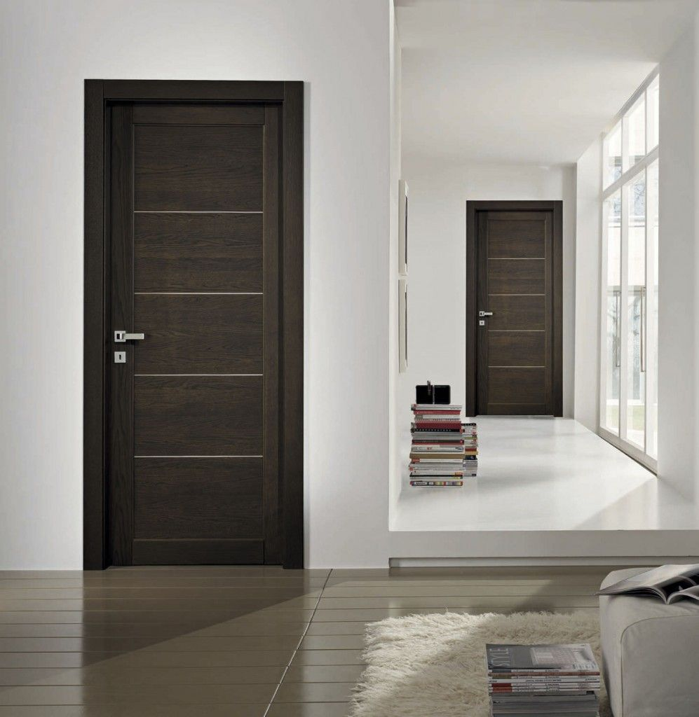 Minimalist wood interior doors for modern bedroom decor without ventilation to perfecting room layout interior