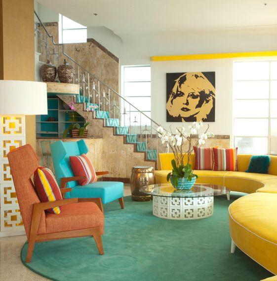 Miami Beachu0027s Lords South Beach Hotel has had the fun-factor - retro living room furniture
