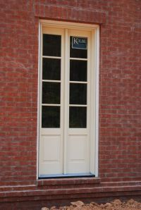 narrow french doors (actually sidelights mulled together ...