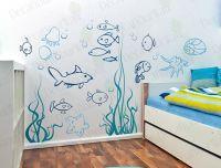 Under the sea, Fish Wall Decals Nursery Childrens Kids ...