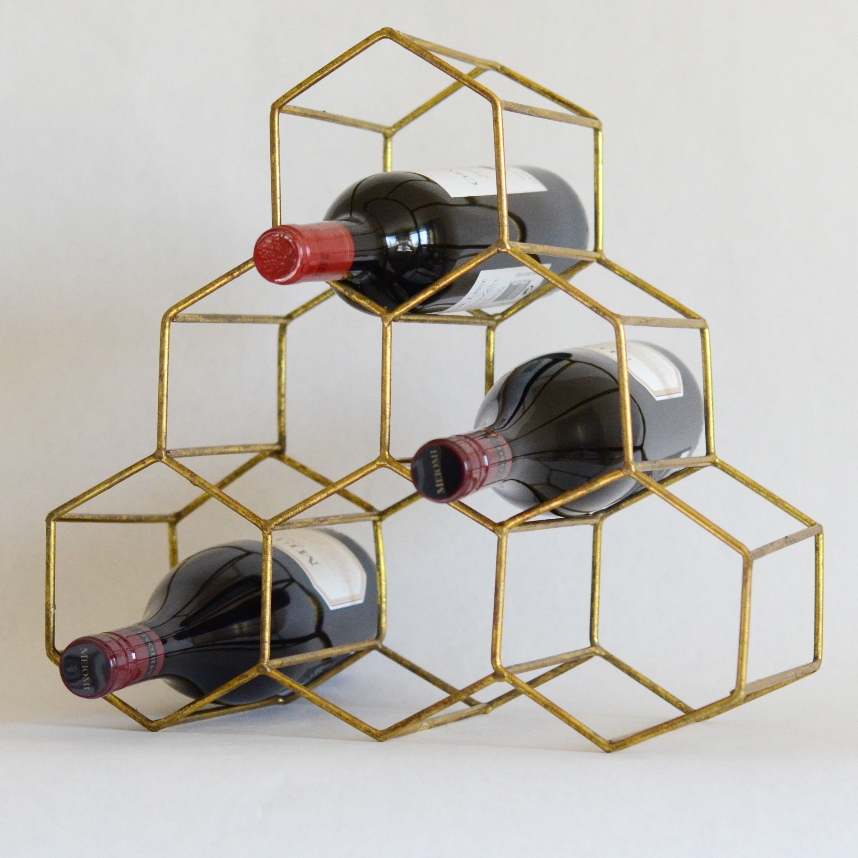 Gold Wine Holder Gold Honeycomb Wine Rack 48 Things For The Home