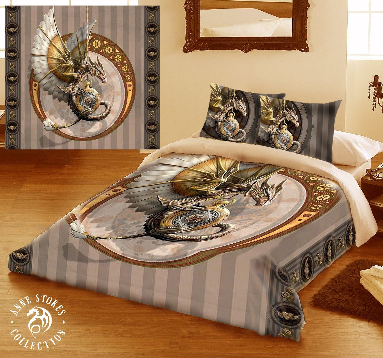 Dragon Bettwäsche Steampunk Dragon Bedding Set Pillow Cases And Quilt
