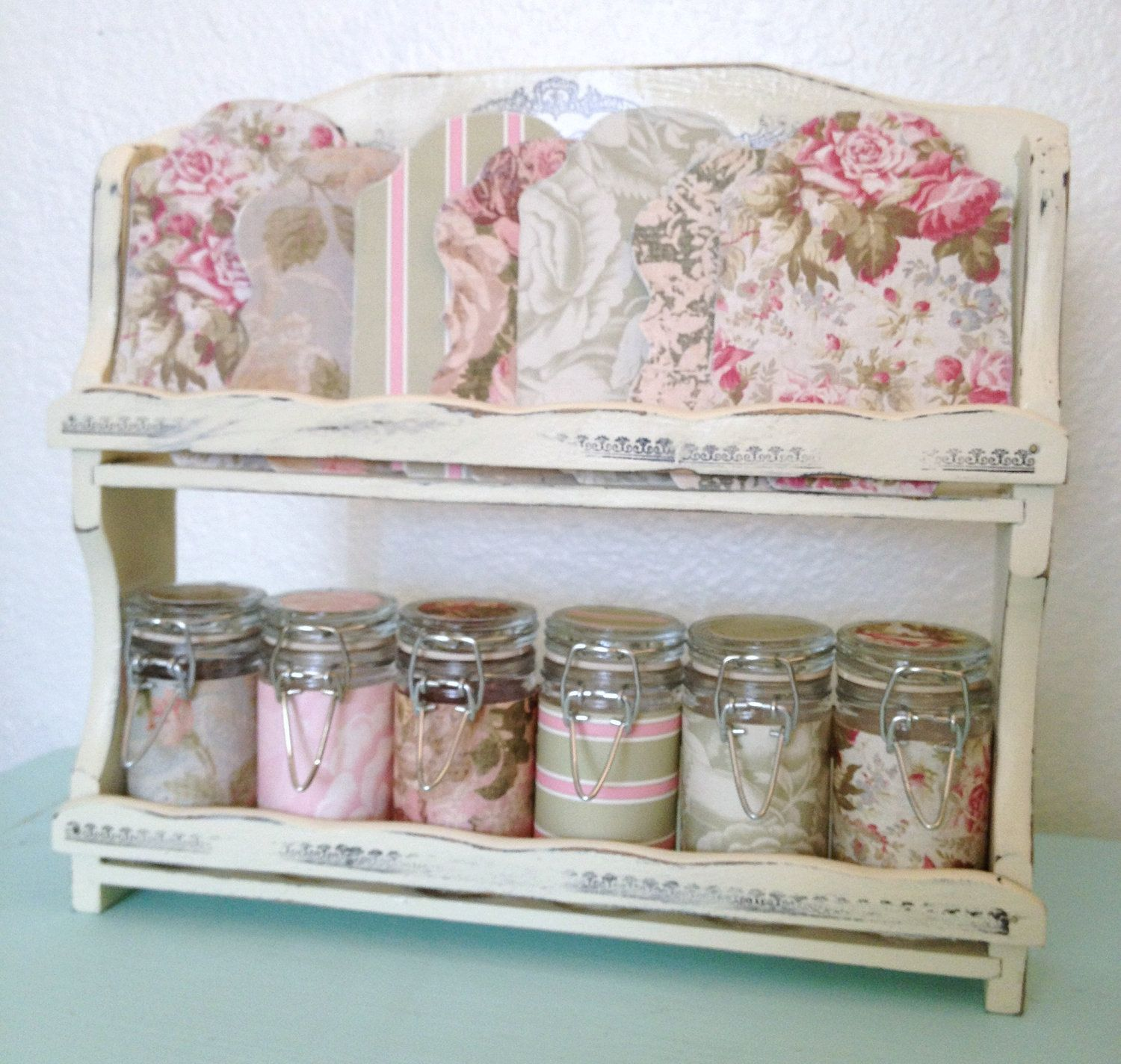 Shabby chic craft sewing room vintage storage by fifisfactory 30 00