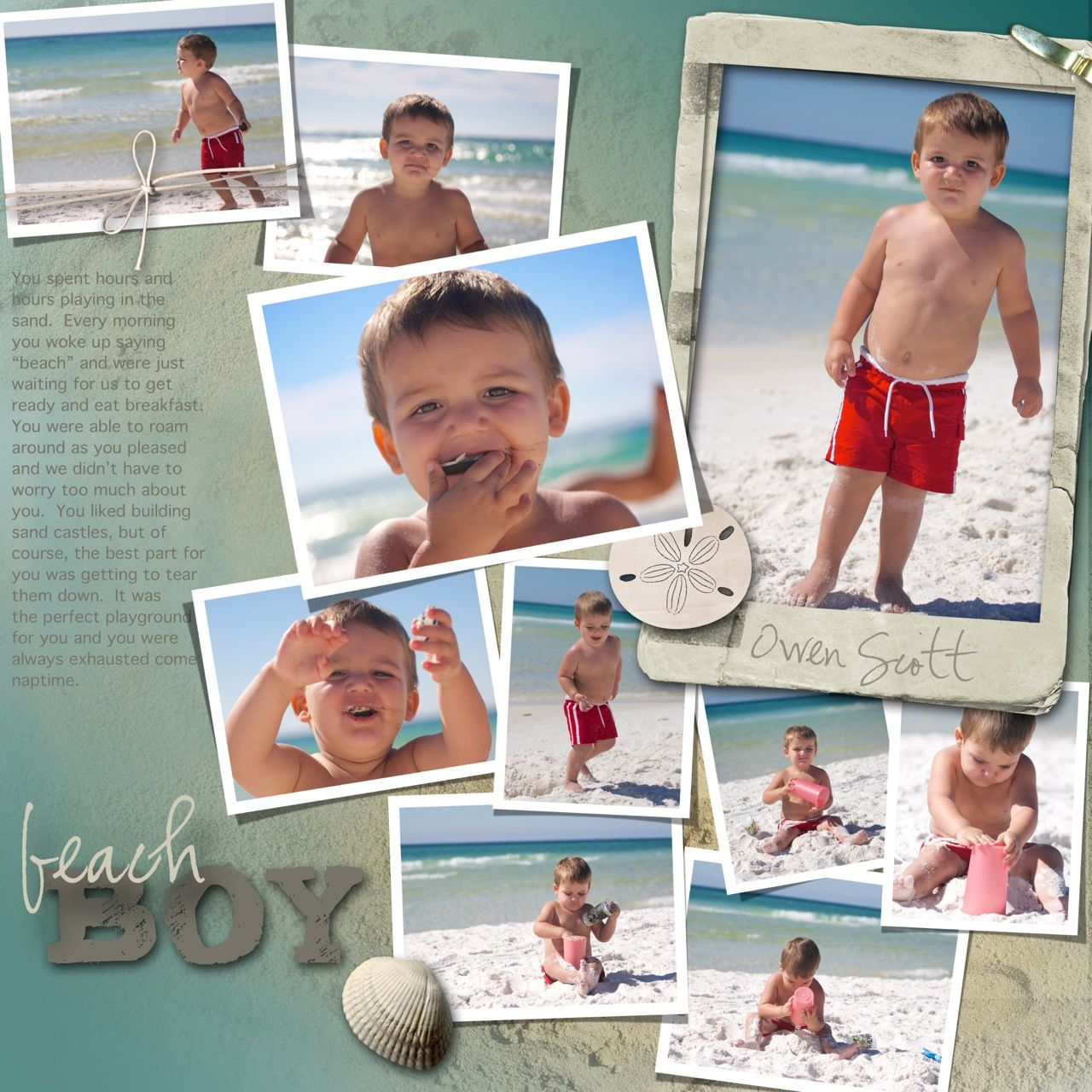 Scrapbook pages layouts beach google search