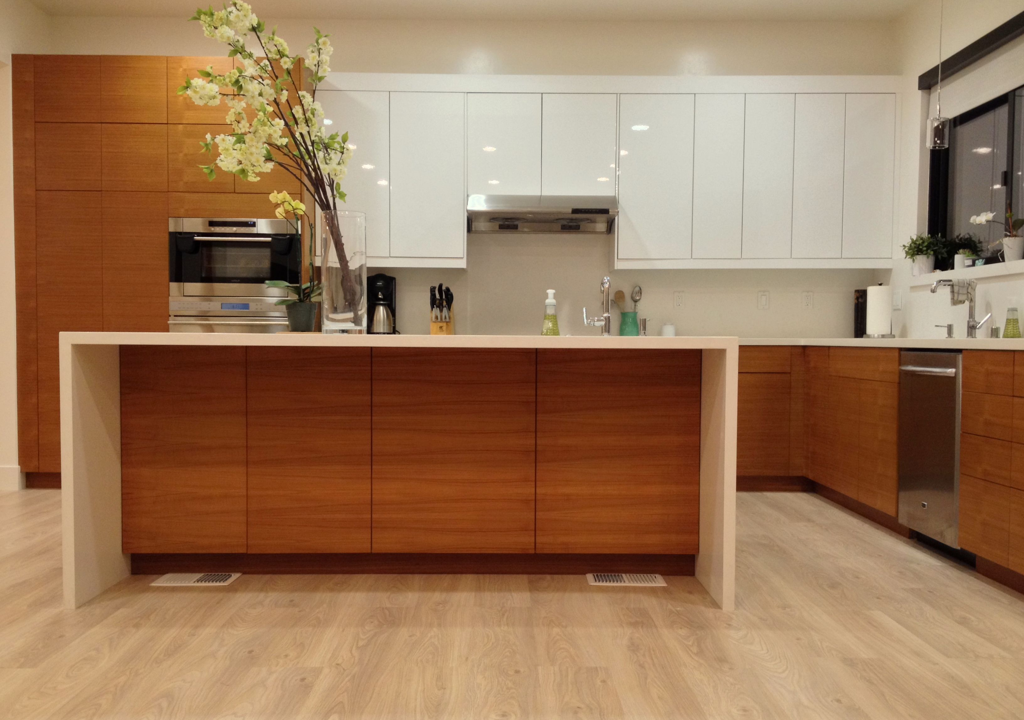 Custom Doors For Ikea Kitchen Cabinets Ikea Kitchen With Semihandmade Rift Teak Fronts