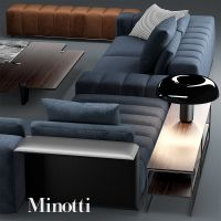 3d sofa minotti freeman model | 777 | Pinterest | Desk ...