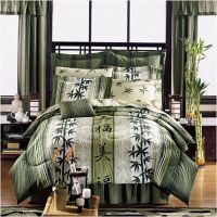 Asian Theme Bedding - Japanese Style Haiku Design Complete ...