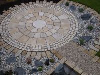 Our Yellow Granite Circle makes a striking feature in this ...