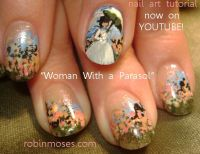 Woman with a Parasol Nails by Robin Moses, Floral, Flowers ...