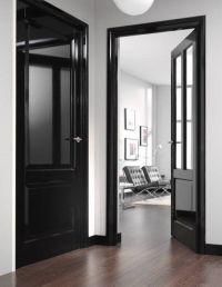 Design Dare: Paint Your Trim Black | Black trim, Apartment ...