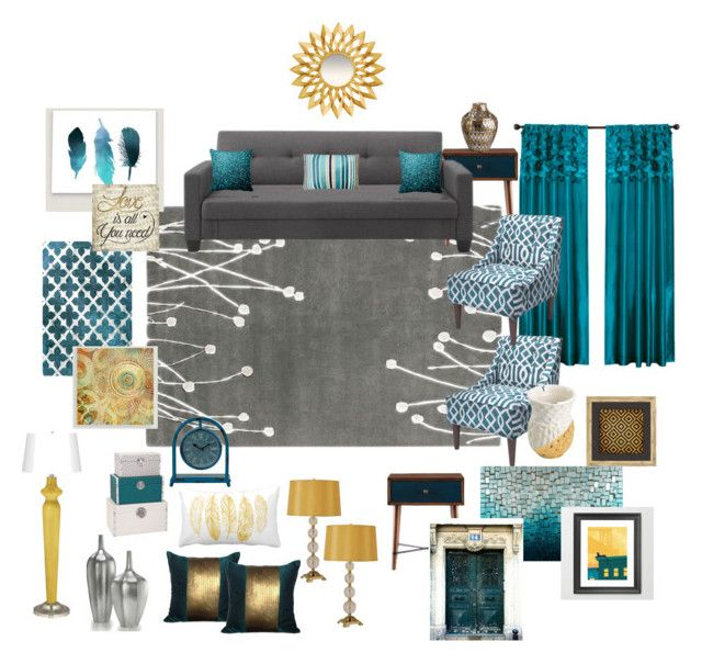 Teal, grey, gold living room - gray and gold living room
